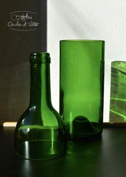 Vaso bottiglia per pianta, verde