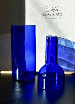 Vaso bottiglia per pianta, blu