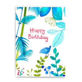 Postkarte *Happy Birthday* (Dschungel)