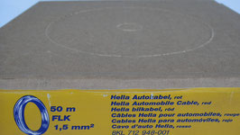 Hella KFZ Kabel Schwarz 1,5 mm, 50 Meter