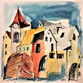 Altstadt Impressionen, 40 x 40 cm