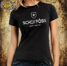 """T-Shirt """" Schofföse mit Herz """""""