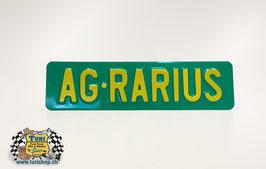 CH-Schild vorne 30 x 8cm Grün/Gelb