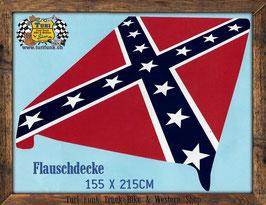 Flauschdecke - Rebel (Südstaaten) Flag