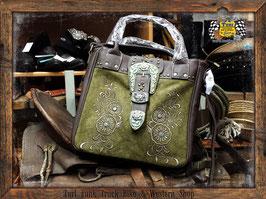 Handtasche Floral-PatinaBuckle-Moos