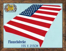 Flauschdecke - USA Flag