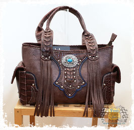 "Handtasche ""Fringe Brown"""
