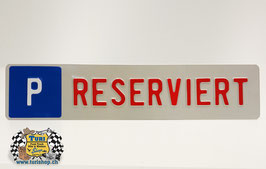 P-Schild Langformat 50 x 11cm Weiss/Rot, kleine Schrift