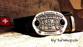 """Schweizer Gürtelschnalle """"OldSchool-CH"""""""