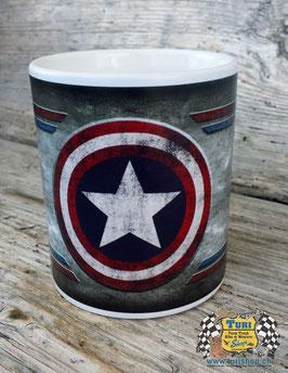 """Tasse """"USA Captain auf Grunge Hintergrund"""""""