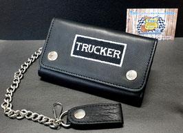 """Lederportemonnaie """"Trucker"""" mit Kette, schwarz"""