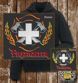 """Hoodie """"Firefighter Kreuz"""""""