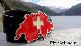 Schweizer Konturen Gurtschnalle (ohne Gürtel)