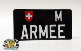 CH-Schild Hochformat 30 x 16cm Schwarz/Weiss, grosse Schrift