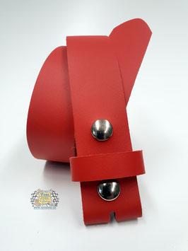 """Spaltledergürtel """"rot"""" (ohne Schnalle)"""