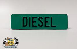 CH-Schild vorne 30 x 8cm Grün/Schwarz