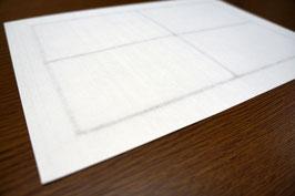 各種プリンターで出力できる手漉きの耳付き和紙ラベル