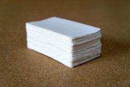 手漉きの四方耳付き名刺とカード紙