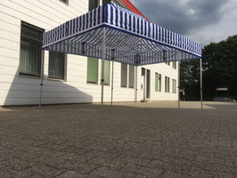 Faltzelt 3 x 4,5 Meter Aluminium  Zeltbeine Hexagonal