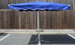 Rechteckiger Stahschirm 3,0 x 3,0 Meter mit 12 Streben