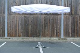Rechteckiger Alu Schirm 3,0 x 3,0 Meter mit 12 Streben