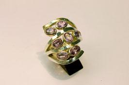 Ring zilver met amethist