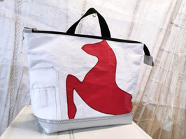002 Back Bag Shopper - Segeltuchtasche - UNIKAT