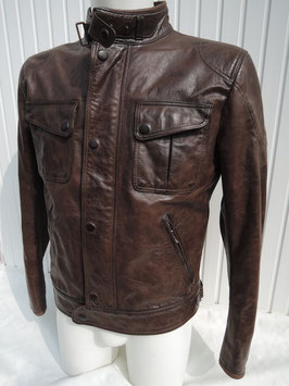 Matchless SILVERSTONE  MICK Blouson Sommer Antique Brown / blackbrown