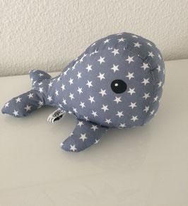 Kleiner Kuschelwal - grau