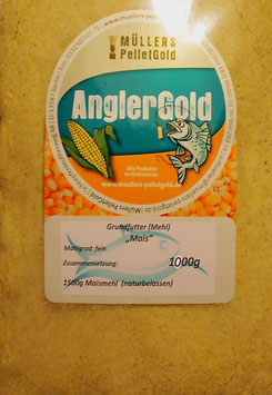 1000 g Maismehl aus frischem Mais gemahlen, passt in jede Futtermischung (feiner Mahlgrad)