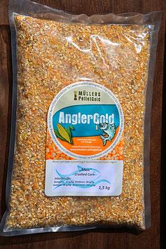 1,50 Kilo Mais Futtermais gebrochen Maisschrot Futter Bruchmais Karpfen Schleie Brassen / auch für Hühner