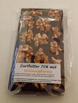 Zartbitterschokolade 70% Walnusskerne