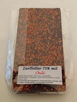 Zartbitterschokolade 70% mit Chili