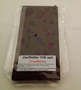 Zartbitterschokolade 70% Cranberry