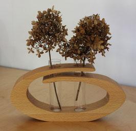 Massivholz-Vase Buche