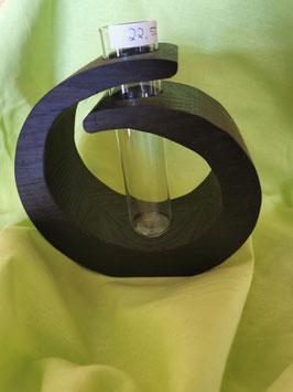 Massivholz-Vase Räuchereiche