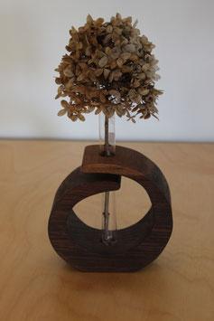 Massivholz-Vase Nussbaum