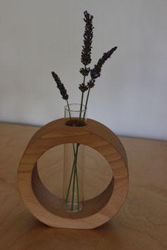 Massivholz-Vase rund