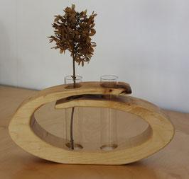 Massivholz-Vase Ahorn