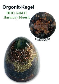 Orgonit HHG Gold II Harmony Fluorit