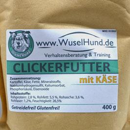 Clickerfutter mit Käse