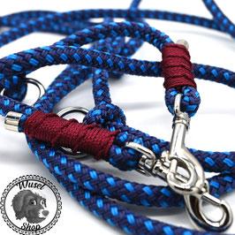 3 m Führleine, marine/blau mit bordeaux