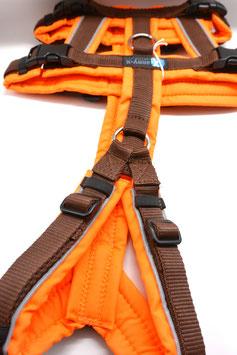 AnnyX Safety Protect neonorange/braun mit Reflektstreifen