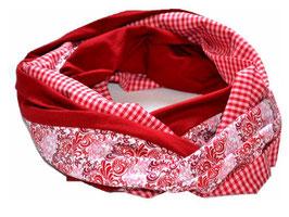 Loop rot-weiß Karo