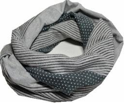 Loop grau-schwarz gestreift