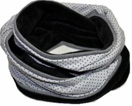 Plüsch Loop schwarz-grau