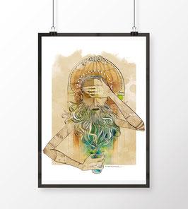 Brunnengott (Limitierter Kunstdruck - Anemone Kloos)