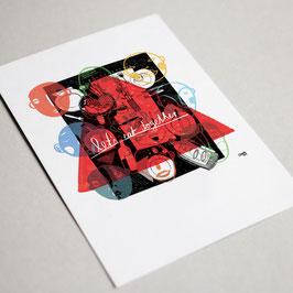 Let's eat together! (Postkarte - Eva Krusche)