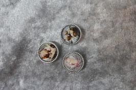Fotoperle für Lederschlüsselanhänger BREIT