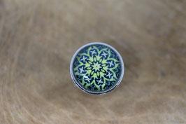 Schiebeperle Mandala grüngelb